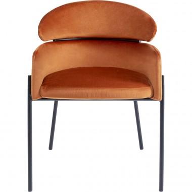 Cadeira de braços Alexia Velvet Laranja