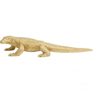 Estatueta Deco Komodo Dragon Gold 167cm