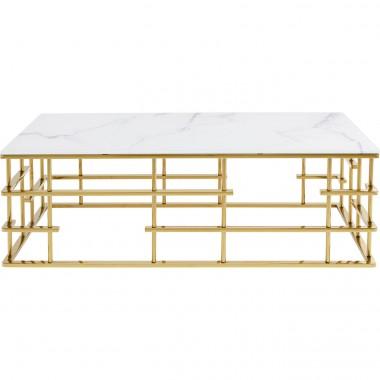 Mesa de centro Rome Dourado 130x70cm