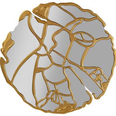 Espelho de Parede Pieces Dourado Ø100cm