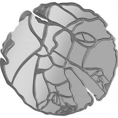 Espelho de Parede Pieces Prata Ø100cm