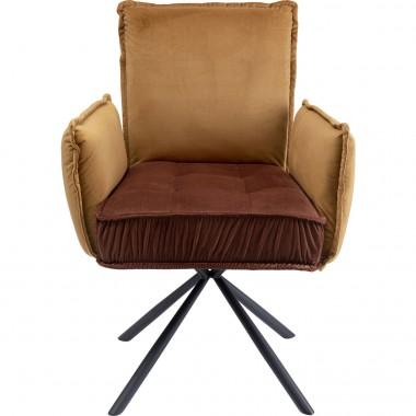 Cadeira de braços Chelsea Castanha