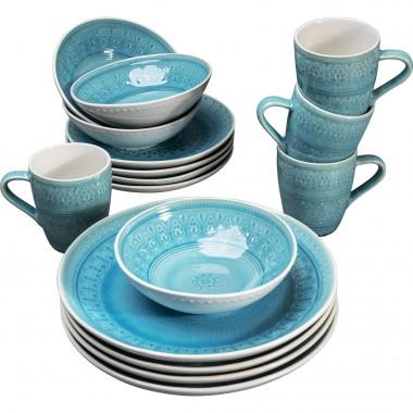 Conjunto de pequeno almoço Sicilia Azul (16 peças)