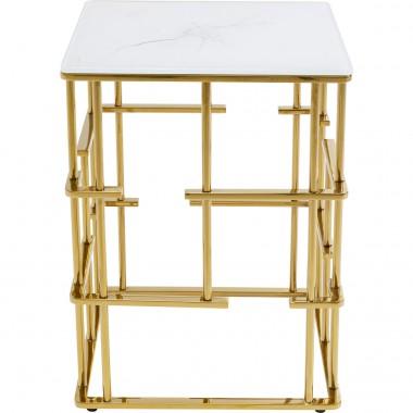 Mesa de apoio Rome dourada 40x40cm