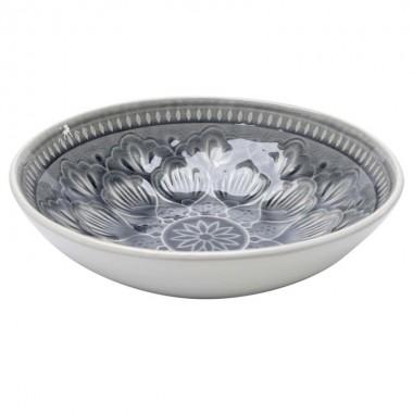 Taça Sicilia Mandala Cinzenta Ø18cm