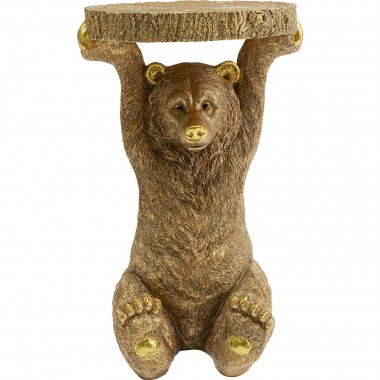 Mesa de apoio Animal Bear Gold 35x34cm