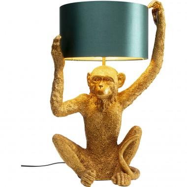 Candeeiro de mesa Animal Holding Monkey Gold