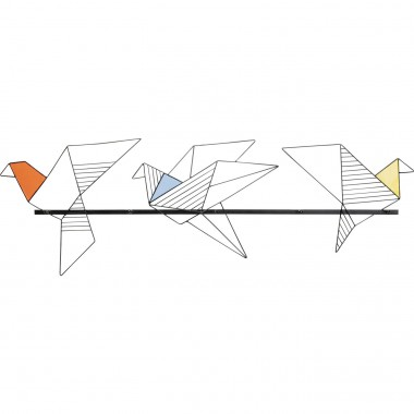 Cabide de parede Origami Bird 114cm