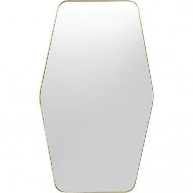 Espelho Ponti Hexagon de latão 64x94cm