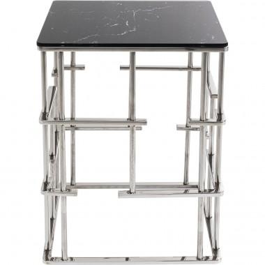 Mesa de apoio Roma Silver 40x40cm