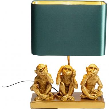 Candeeiro de mesa Animal Three Monkey Dourado