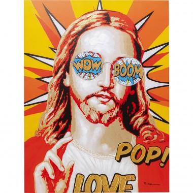 Tela Touched Funky Jesus 90x120cm