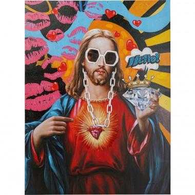 Tableau sur toile Jesus Pop 90x120