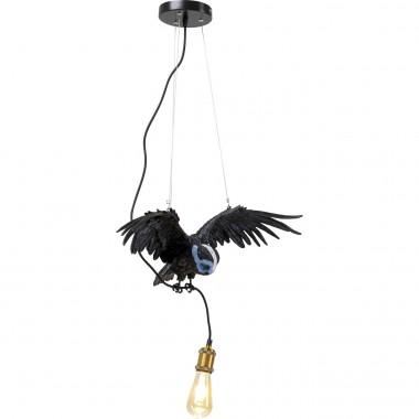Suspension Animal Blue Mask Owl noir