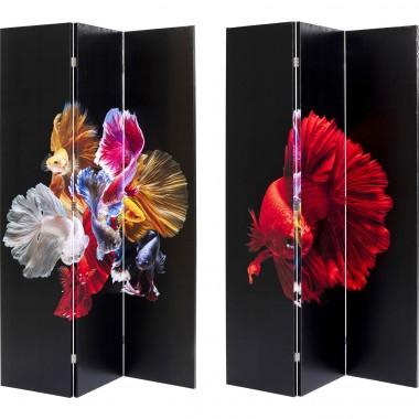 Biombo de sala Colorful Fish vs Fire Fish 120x180cm