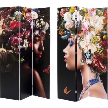 Biombo Flowery Shoulder vs Bunch Flowers 120x180cm