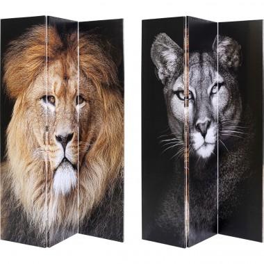 Biombo King Lion vs Cat Girl 120x180cm