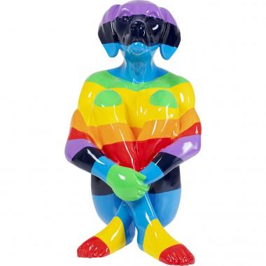 Peça decorativa Sitting Dog Rainbow 173cm