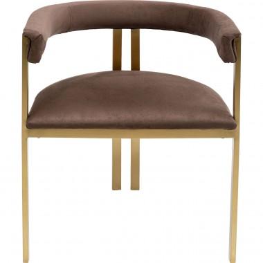 Cadeira com apoio de braço Paris Castanha