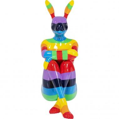 Peça decorativa Sitting Rabbit Rainbow 203cm