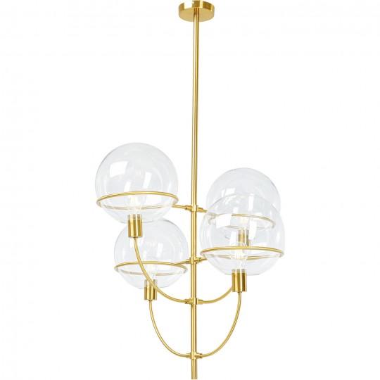Candeeiro de Tecto Lantern 4rs Brass