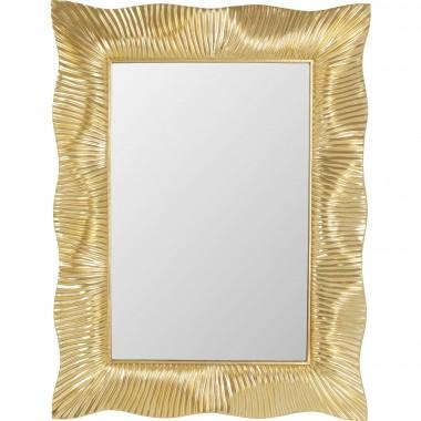 Espelho de parede Wavy Brass 94x124cm