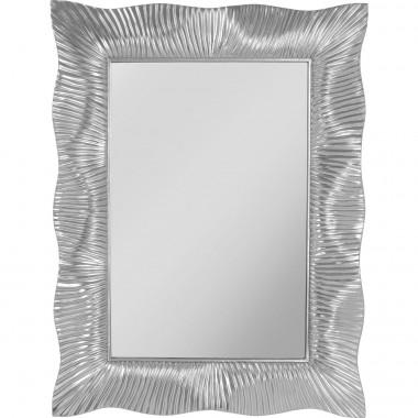 Espelho de parede Wavy Prateado 94x124cm