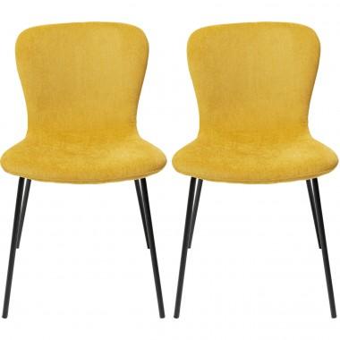 Cadeira Frida Amarela (conjunto de 2)