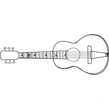 Garderobe murale Guitar 81cm