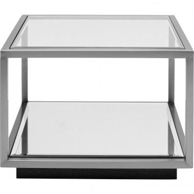 Table d appoint Luigi PM argenté 50x50cm