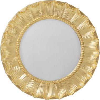 Espelho de parede Sun Ray Dourado Ø84cm