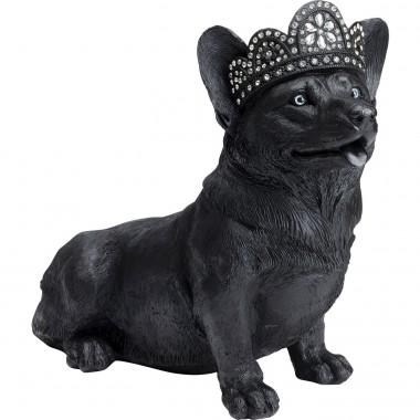 Peça decorativa Royal Sitting Corgi Preta