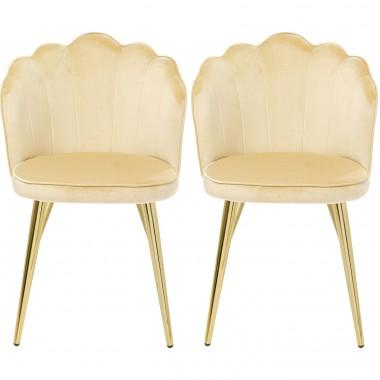 Cadeira Princess Bege (conjunto de 2)
