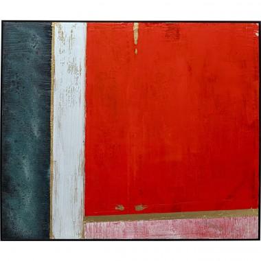 Quadro com moldura Color Blocking 120x100cm