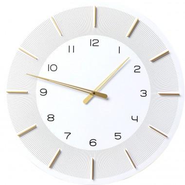 Relógio de parede Lio Branco Ø60cm