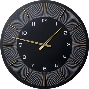 Relógio de parede Lio Preto Ø60cm