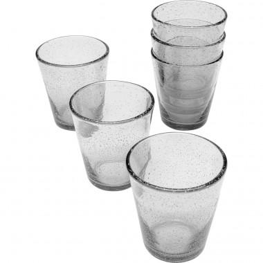 Conjunto de copos Bubble Clear (6 peças)