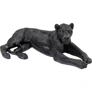 Peça decorativa Lion Preta
