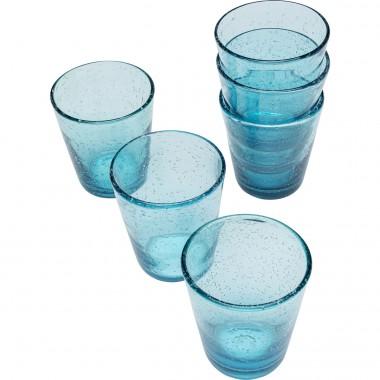 Set de verres Bubble bleu (6-pcs)